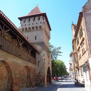 По центру столицы Трансильвании - Сибиу.