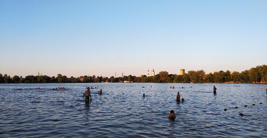 Пляж Белого озера