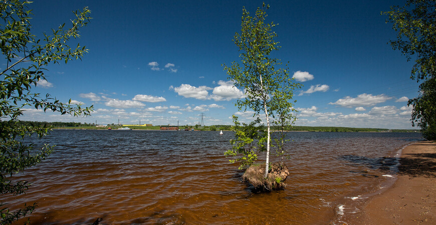 Пляж «Горки» на Клязьминском водохранилище