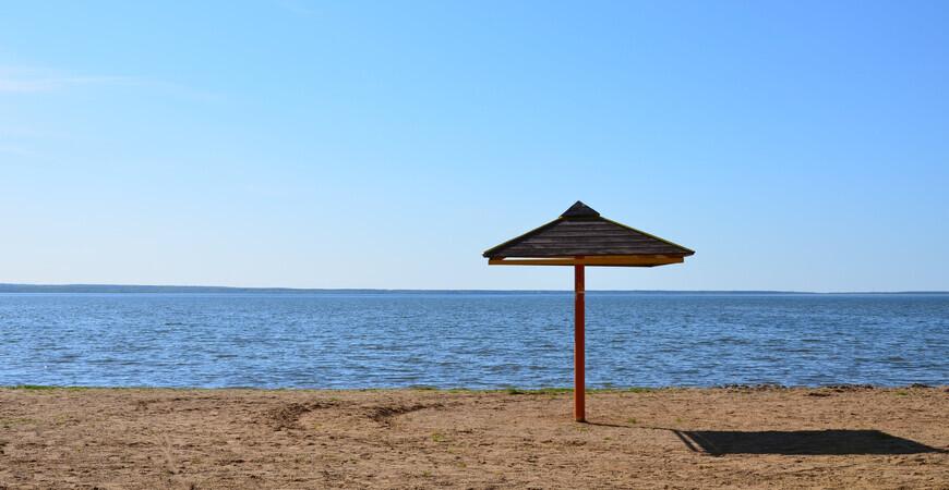 Городской пляж озера Плещеево