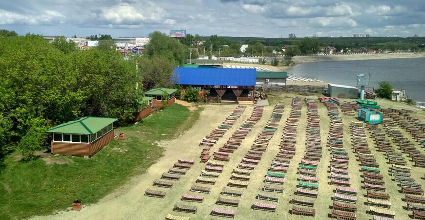 Пляж «Белый парус» в Челябинске
