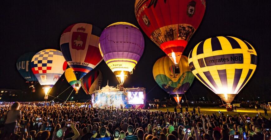 Международный фестиваль воздухоплавания «Небесная ярмарка» в Кунгуре
