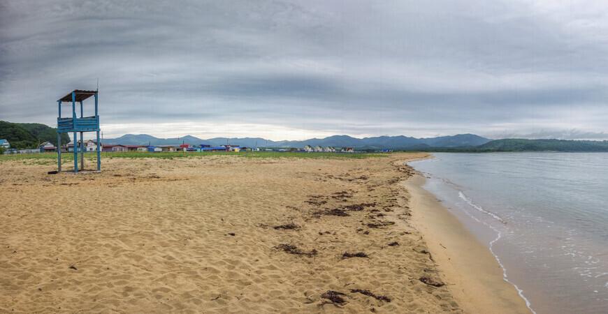 Пляж в Волчанце