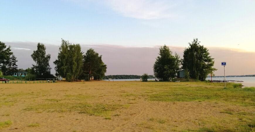 Пляж в Новосельцево