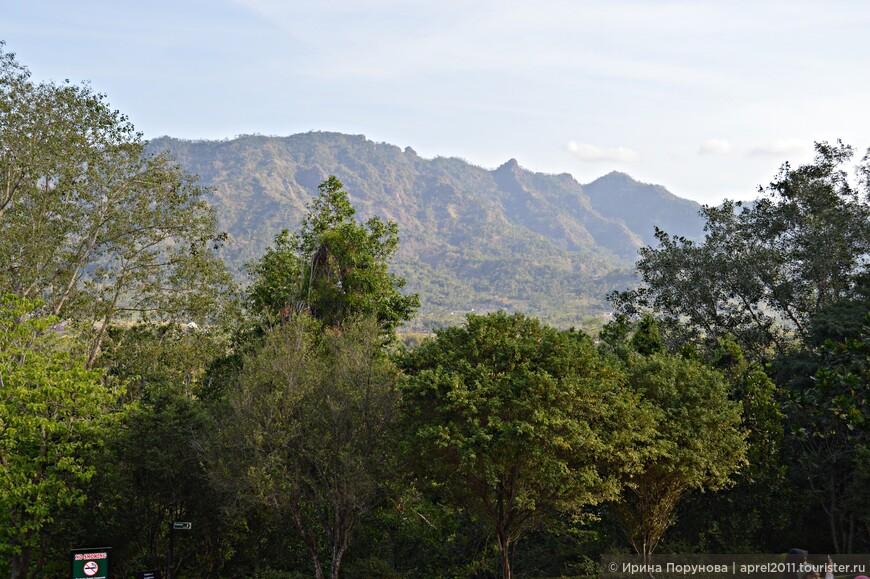 С высоты холма просматриваются живописные окрестности.