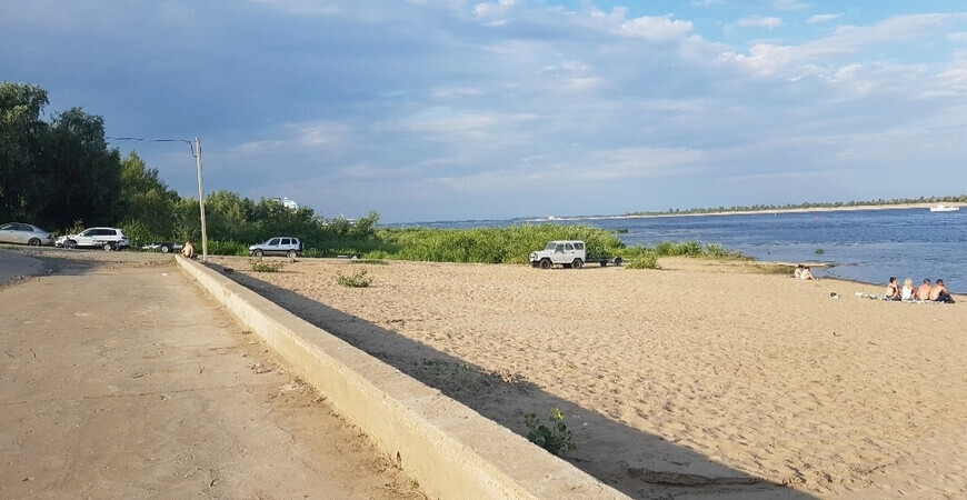 Пляж на Тулака в Волгограде