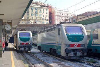 Поезда Trenitalia на станции Genova Piazza Principe, лиц. CC BY-SA 4.0