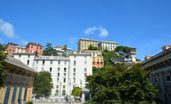 Архитектура Генуи, вид с Белого дворца