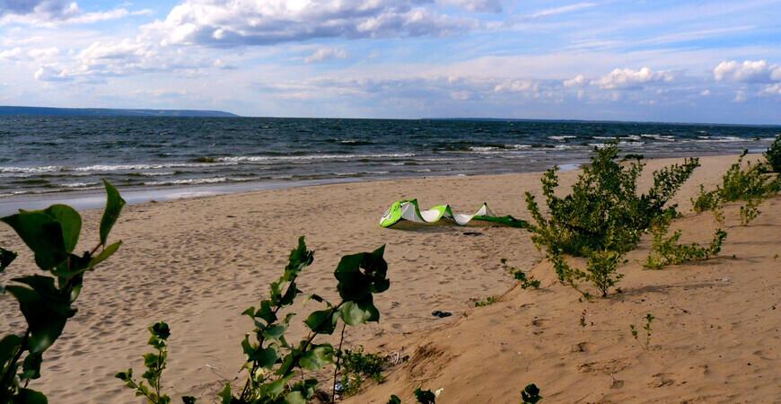 Пляж в Хрящевке