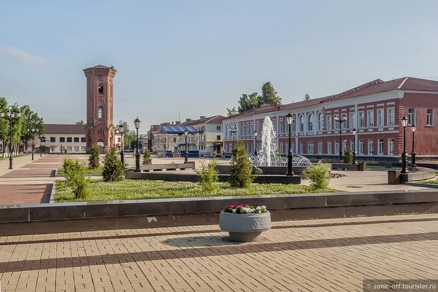 На соборной площади заработа фонтан