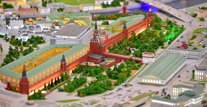 Архитектурный интерактивный макет Москвы