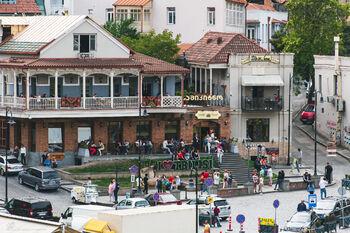 Знак «Я люблю Тбилиси» на площади Вахтанга Горгасали