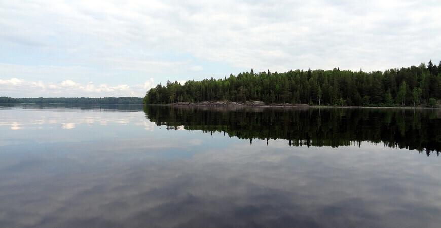 Озеро Янисъярви в Карелии