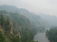 Река Белый Июс. Горная гряда Сундуки. Пещера Кошкулак.
