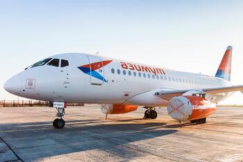 SSJ-100 экстренно сел в Самаре из-за отказа двигателя
