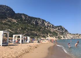 Лучший пляж Родоса и монастырь Цамбика