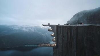 Знаменитый утёс Прекестулен превратится в отель с «парящим» бассейном