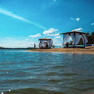 Голубое озеро Муллаши под Тюменью