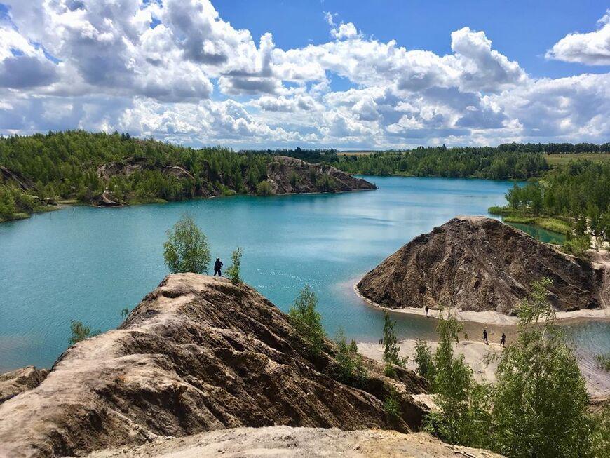 Голубые озера в Тульской области (озера в Кондуках)