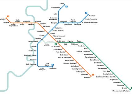 Схема римского метрополитена