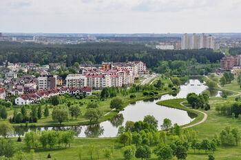 Вид с Национальной библиотеки Беларуси