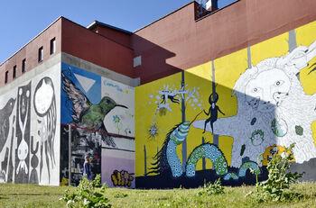 Граффити фестиваля Vulica Brasil