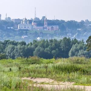 Вид на Каширу со стороны Ступино