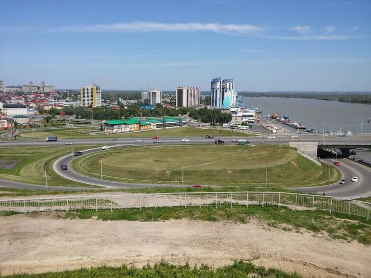 Барнаульский мост через реку Обь