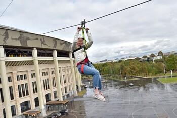 В Лужниках появился первый в Москве зиплайн