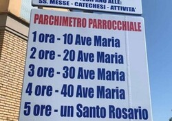 В Италии предложили расплатиться за парковку молитвой
