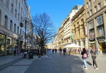Популярная торговая улица NaPříkopě