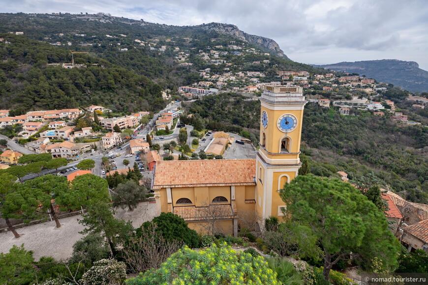 Вид в сторону Монако и на церковь Notre Dame de l'Assomption, Церковь Успения Пресвятой Богородицы