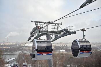 Московская канатная дорога переходит на зимний график работы