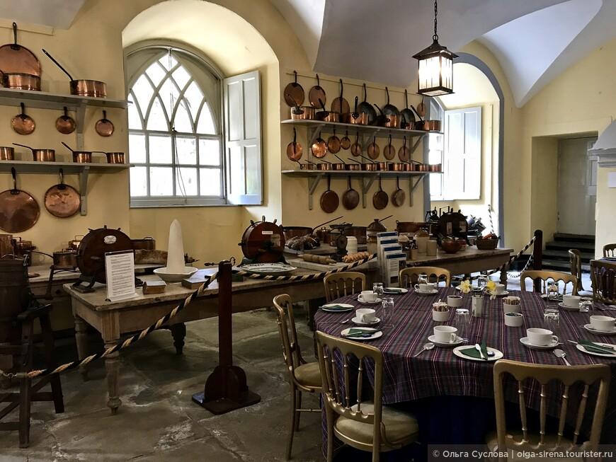 Огромная кухня замка Инверари, способная накормить целый полк