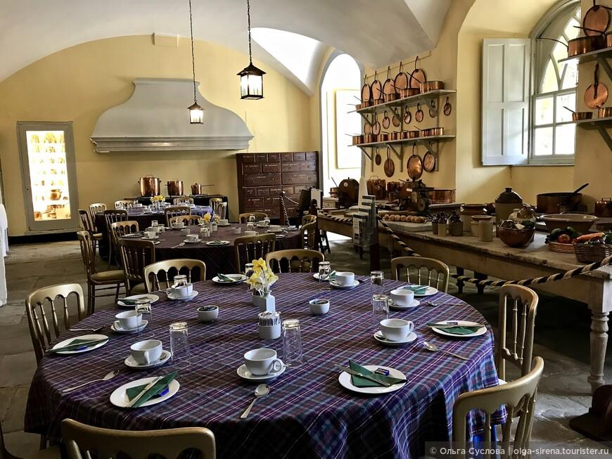 Кухня замка Инверари сейчас работает как кафе для посетителей