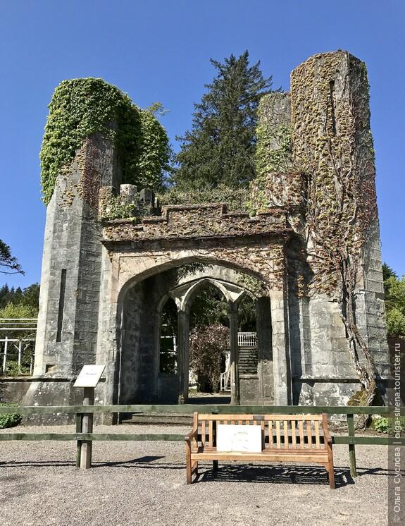 Руины замка Армадейл, увитые плющом