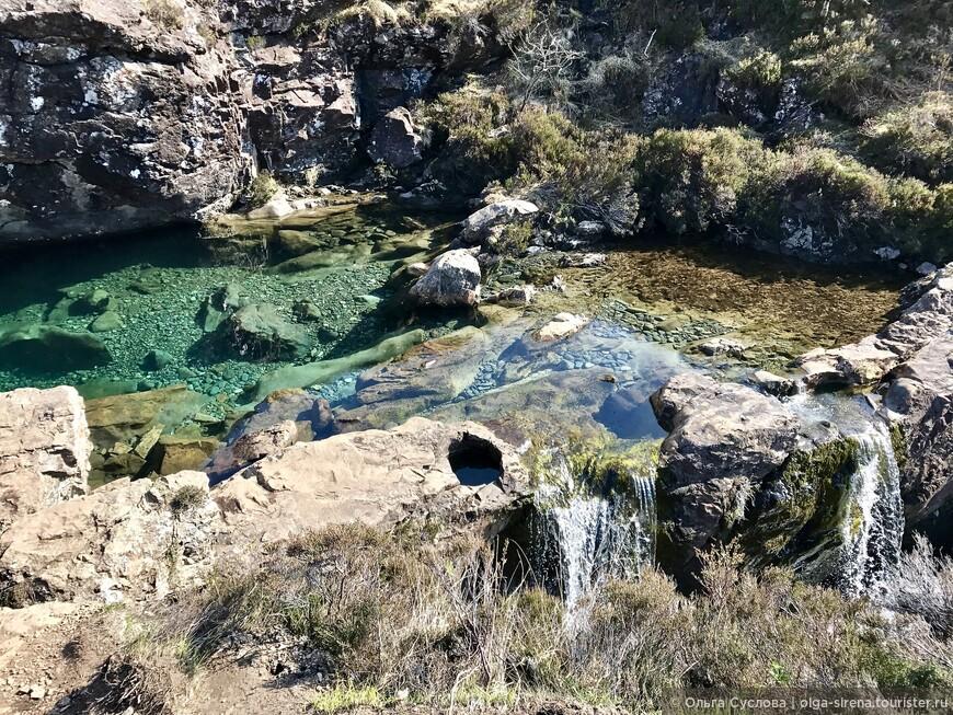 Удивительно прозрачная вода сказочных бассейнов