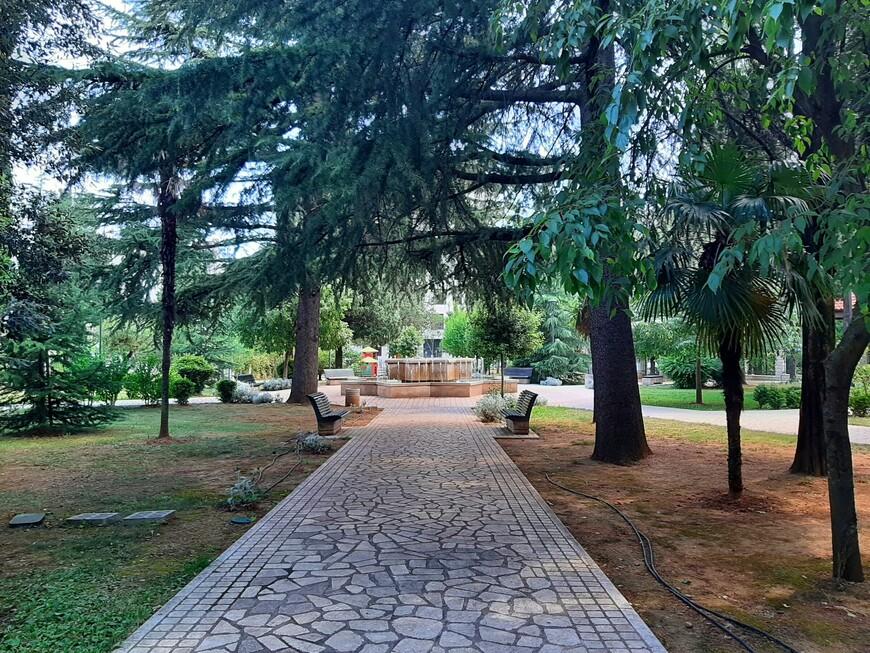 В Королевском парке установлен фонтан,  есть красивые скамейки, игровая площадка, столы для игры в шахматы, обеспечен доступ к беспроводному интернету. Парк находится в центре Подгорицы  вдоль бульвара Святого Петра Цетинского.