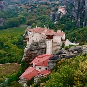 Греческие Метеоры. Монастырь Русану