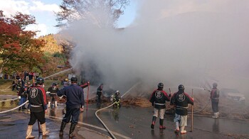 В Японии от пожара пострадал второй за неделю объект ЮНЕСКО (видео)