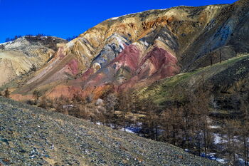 Цветные горы Кызыл-Чина
