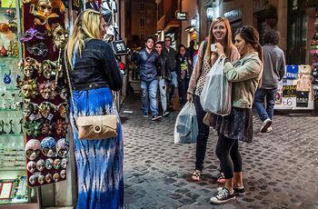 Туристы на шоппинге