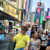 На Таймс Сквер с туристами
