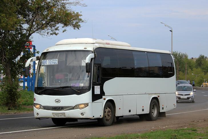 Автобус Higer перевозчика «Пермские автобусные линии»