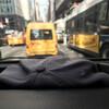 Такси, вид из нашей машины