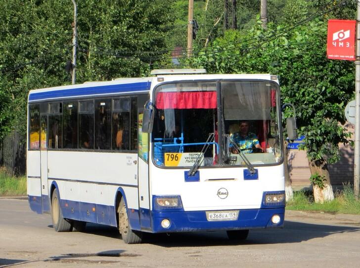 Автобус Пермь — Чусовой