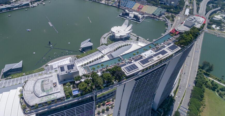 Смотровая площадка Marina Bay Sands