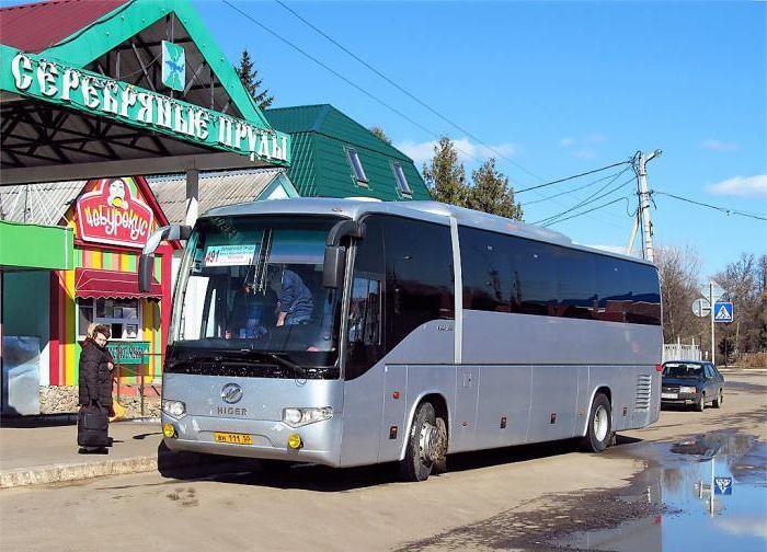Автобус Москва — Серебряные Пруды