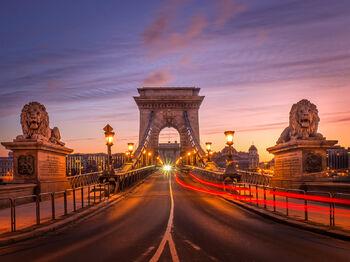 Мост Сечени на рассвете