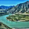 Слияние двух рек Чуи и Катуни